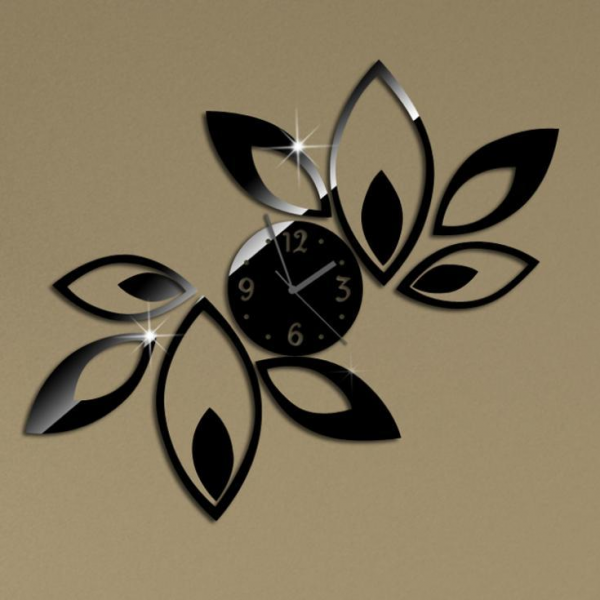 -flower-wall-clock-modern-design-luxury-mirror-wall-clock-3d-crystal ...