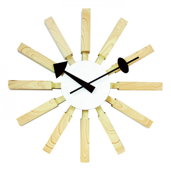 Jones Modern Wood Wall Clock at Brookstone—Buy Now!