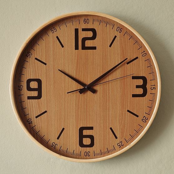 Wood Wall Clock - Modern - Wall Clocks - by West Elm