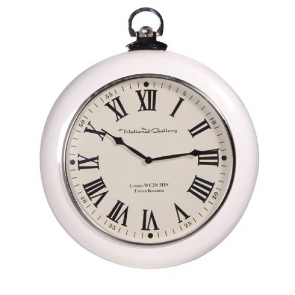 Nickel Cream Round Wall Clock