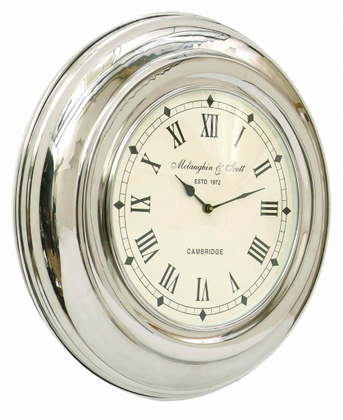 clock round nickel wall clock retail price £ 152 50