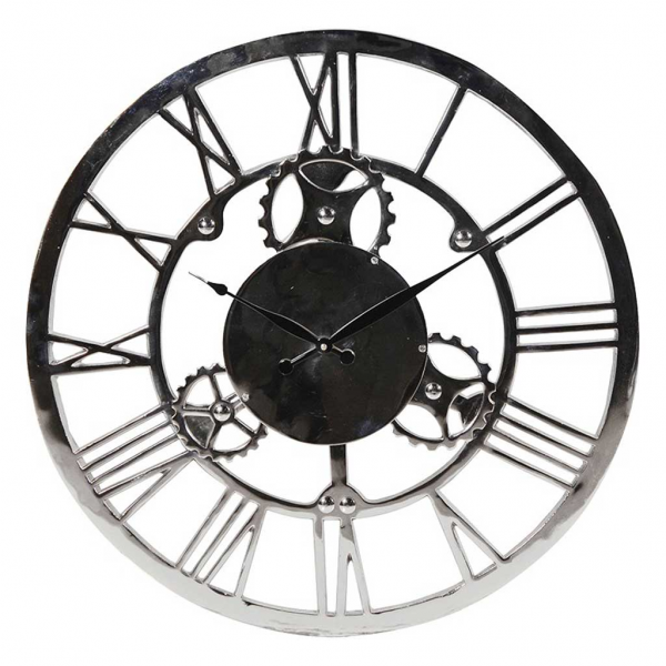 Home / Clocks / Nickel Roman numerals round wall clock