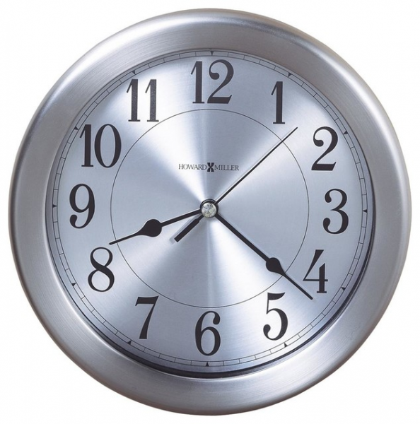 Round Wall Clock w. Brushed Nickel Finish - Contemporary - Wall Clocks ...