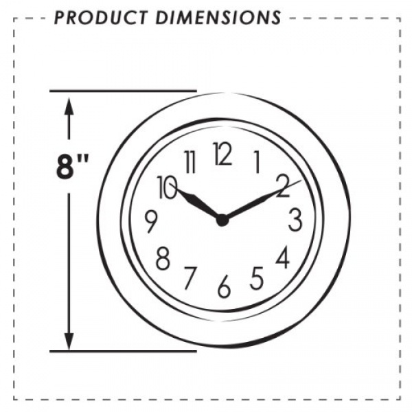 Itc (32000-ni-db) 8 Brushed Nickel Round Clock