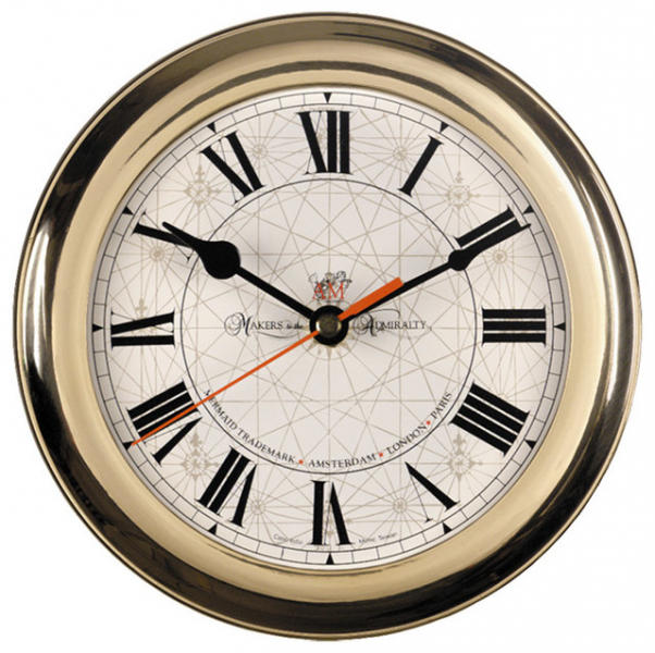AM Round Wall Clock - Traditional - Clocks - by Classic Hostess