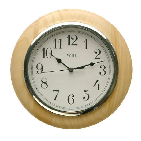 Traditional Light Wood Wall Clock
