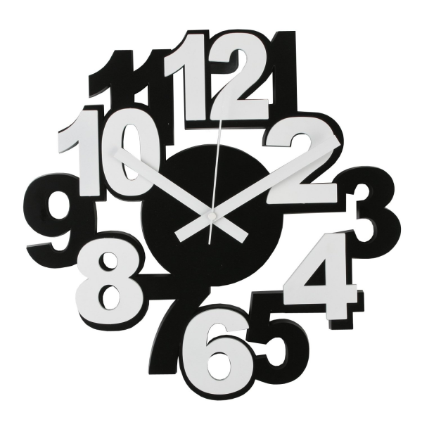 Modern Funky Black & White Wall Clock