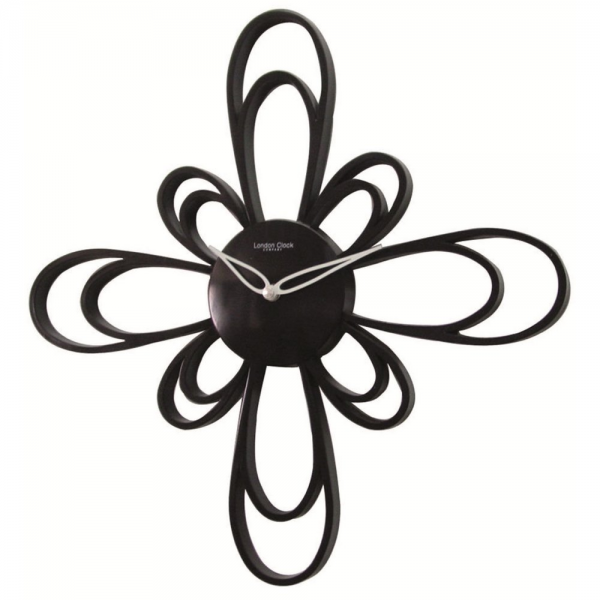 black modern wall clocks
