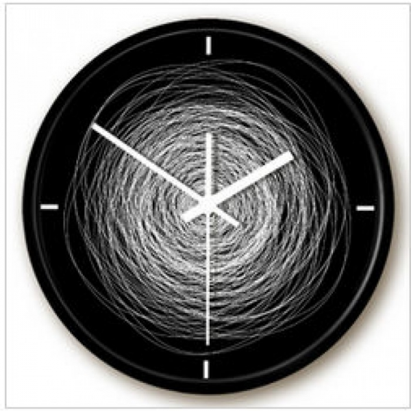Messy Line Modern Black Wall Clock | Clock Central