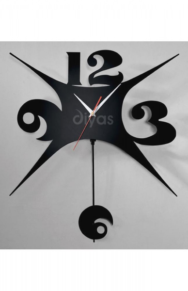 Modern Black Wall Clock with Explosion Design - Haysom Interiors