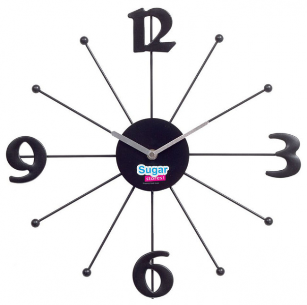 Shopping Wall Clock in Black - Contemporary - Wall Clocks - by Modern ...