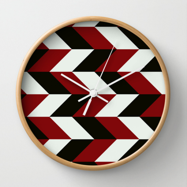impact Wall Clock by THE USUAL DESIGNERS | Society6