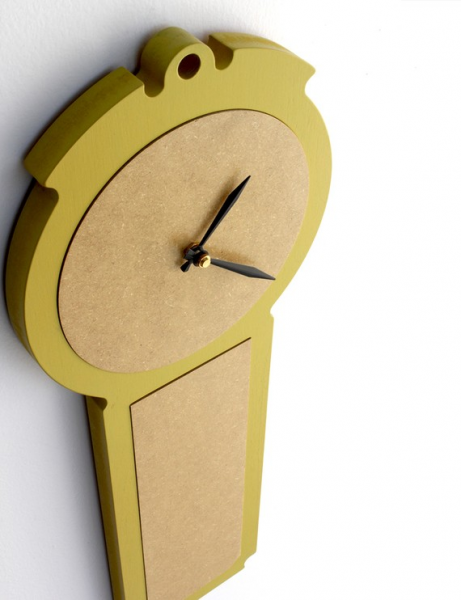 Items similar to modern wall clock - simple chic - chartreuse, pale ...