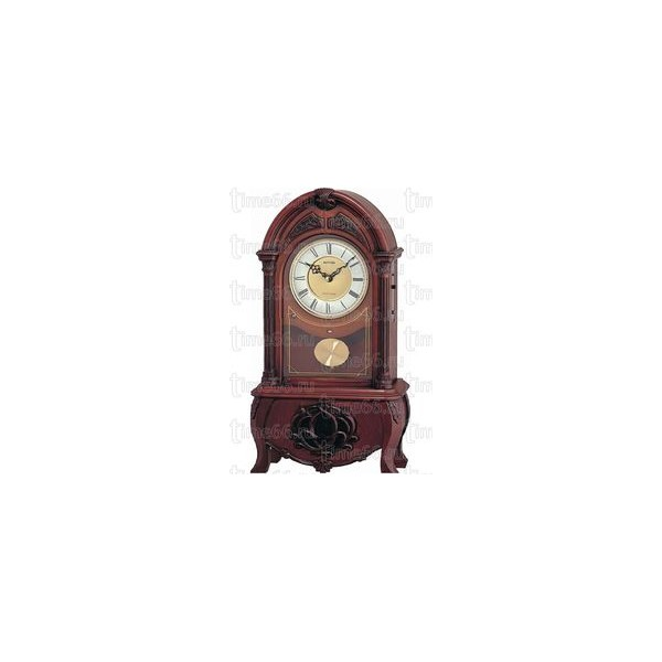 Rhythm CRJ717CR06 Wood Table Clock - RHYTHM