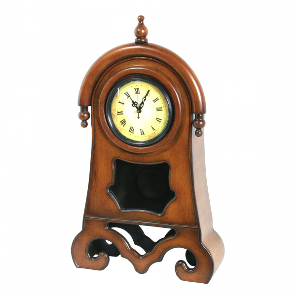 Details about River Cottage Gardens Decorative Wooden Table Top Clock