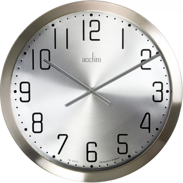 Alvik Brushed Steel Wall Clock 50cm