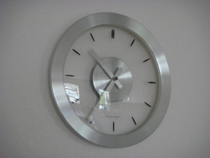 Brushed Metal Wall Clock Photo by shastasunshine | Photobucket