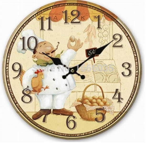 New 2015 Hot Sale!Creative Number Wooden&Round Wall Clock Modern ...