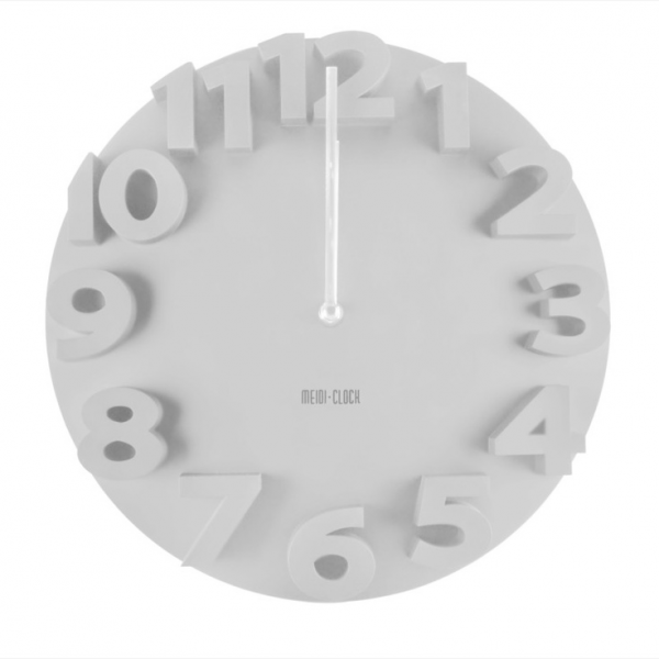 ... Home Decor Creative Modern 3D Number Dome Round Wall Clock White