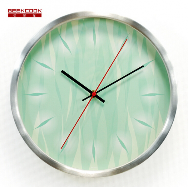 watch wall creative abstract metal mirror wall clock modern design ...