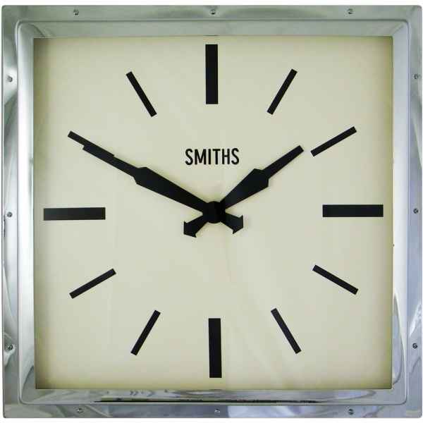 You are here: Home > Smiths Square Chrome Wall Clock 41cm