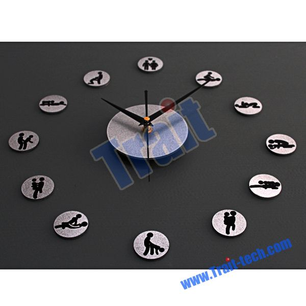 Combinations Wall Clock Bell Personalized Fashion Metal Texture Modern ...