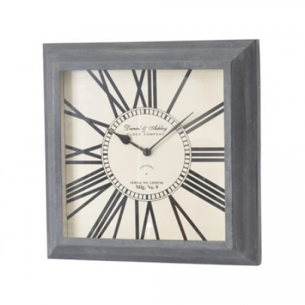 Normandy Antique Grey Small Square Wall Clock