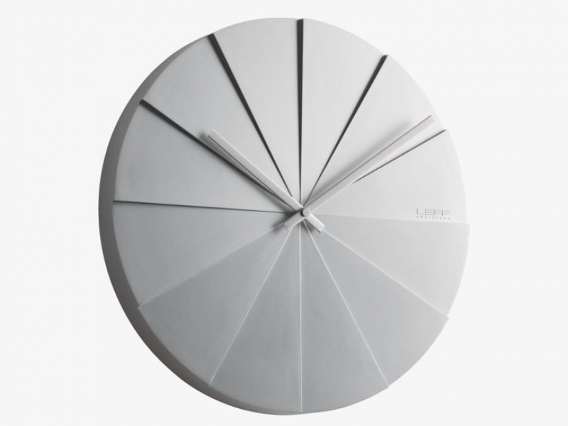 LEFF Plastic Grey faceted wall clock | Clocks | Pinterest