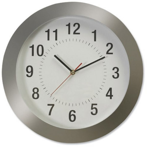 Image of Large Wall Clock Diameter 380mm Grey