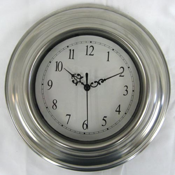 Silver Stainless Steel Wall Clock 9 House Home