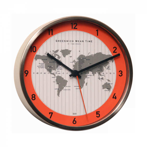 ... 669.GS GMT Silver Stainless Steel Convertible Wall Clock | ATG Stores