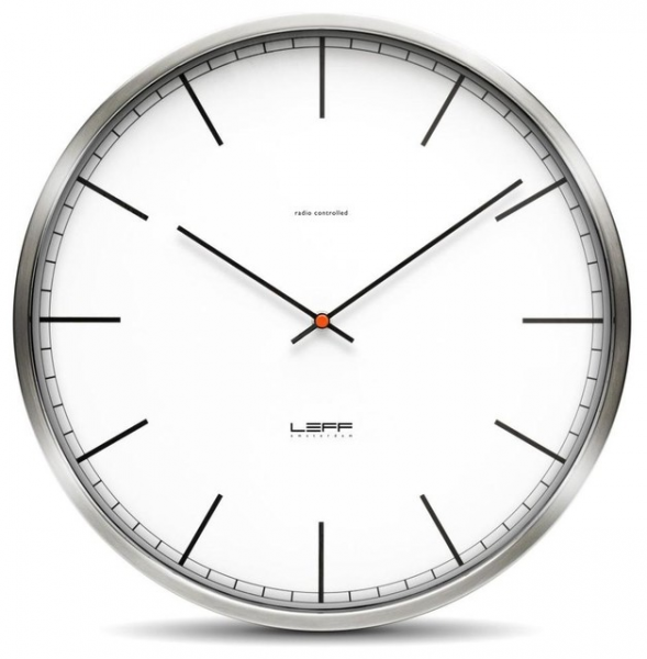 Wall Clock - Stainless Steel, White Index, 9.8 Dia. - Modern - Clocks ...