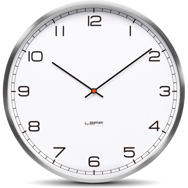 One25 Wall Clock - Stainless Steel White Arabic | Leff Amsterdam ...