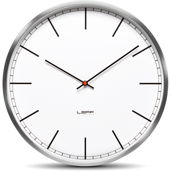 One25 Wall Clock - Stainless Steel White Index | Leff Amsterdam ...