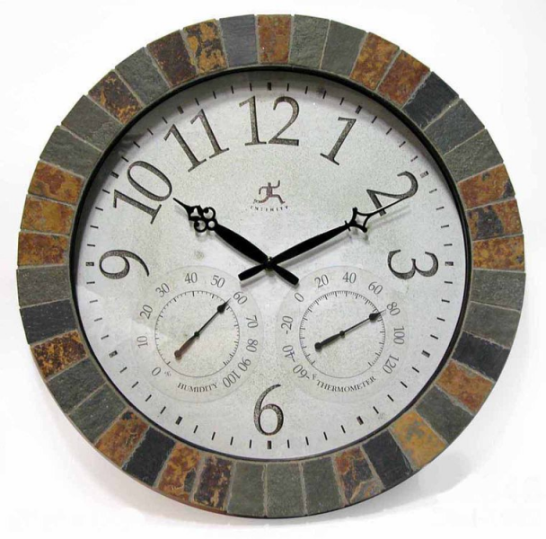 The Inca Indoor/Outdoor Wall Clock