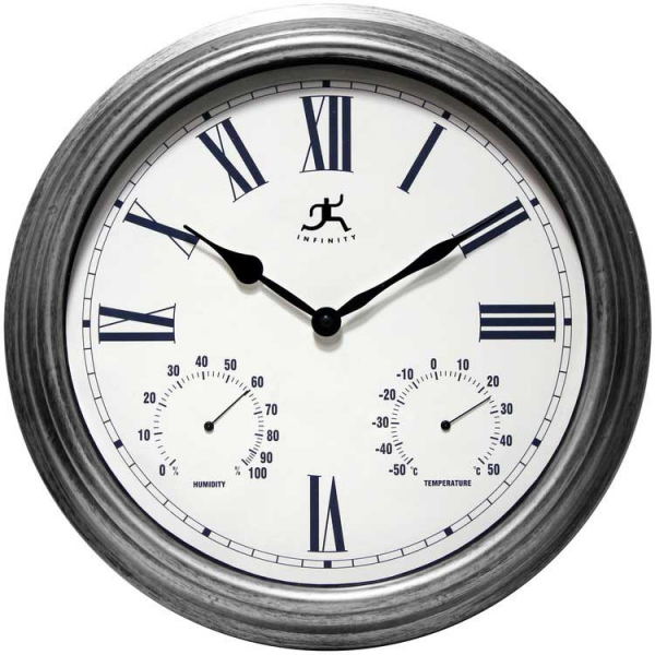 Silo Indoor/Outdoor Wall Clock by Infinity Instruments - Outdoor Wall ...