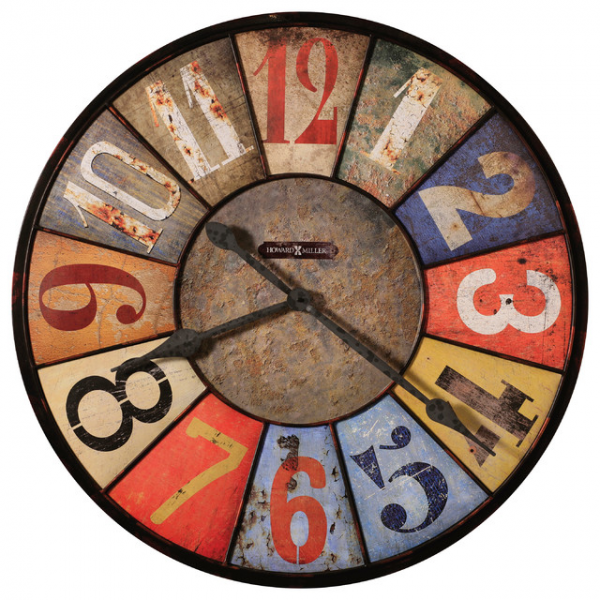 ... Multi Colored Wall Clock | County Line - Farmhouse - Wall Clocks - by