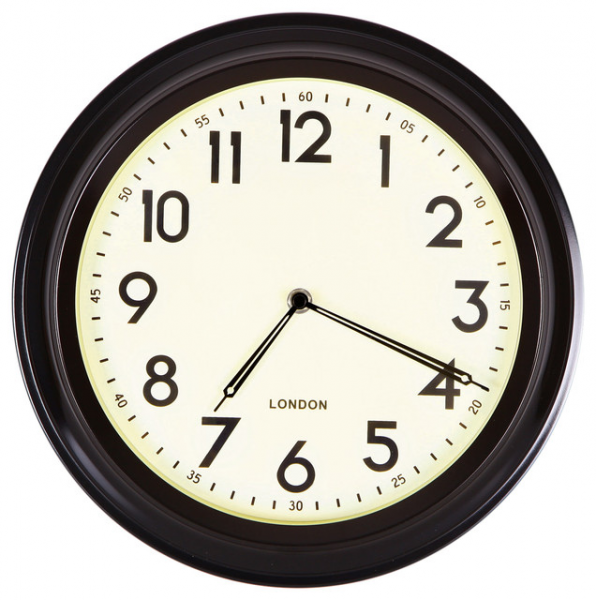 Adeco Black Rim Basic Round Wall Clock - Transitional - Wall Clocks ...