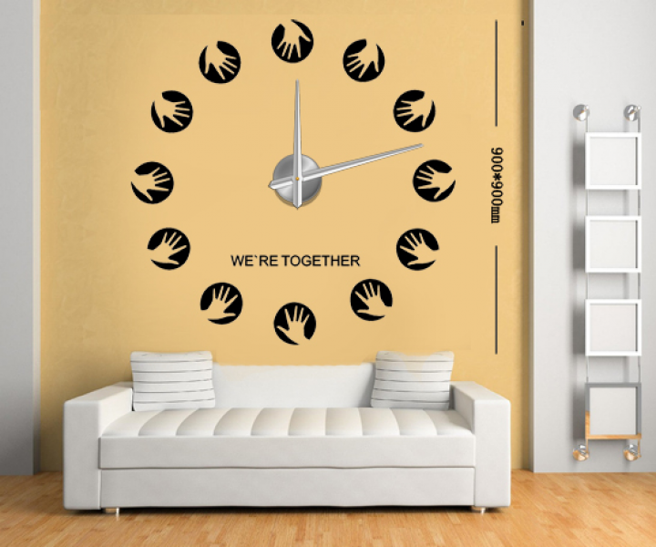 3D DIY Wall Clocks hands Wall Stickers Clocks Big Silent Wall Clocks ...
