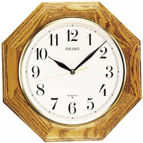 Seiko Wall Clock Quiet Sweep Second Hand Clock Silver-Tone Metallic ...