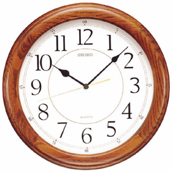 Clockway: 13in Seiko Mirage Quartz Wall Clock Quiet Sweep - GSK4224