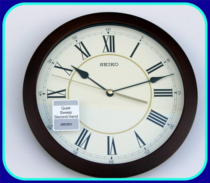 ... about SEIKO WALL CLOCK NEW ROMAN NUMBERS QUIET SWEEP SECOND HAND