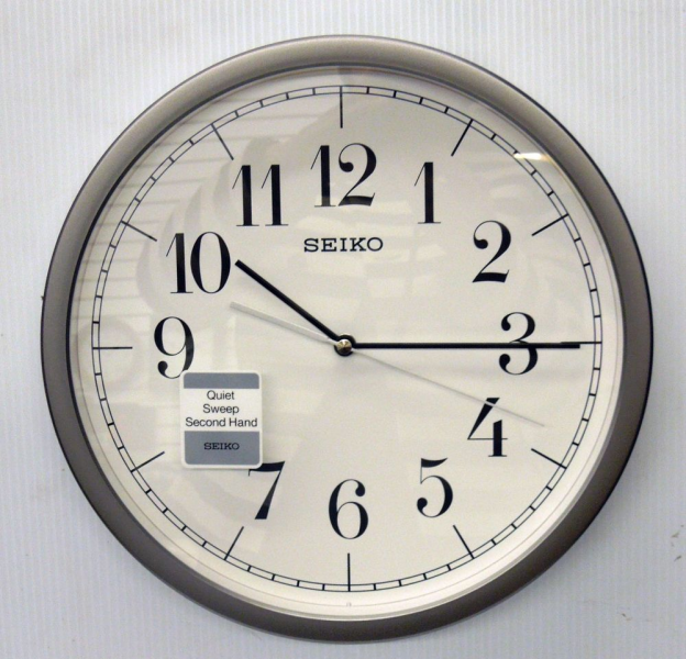 Seiko Hestor 12 25 Round Wall Clock with Quiet Sweep | eBay