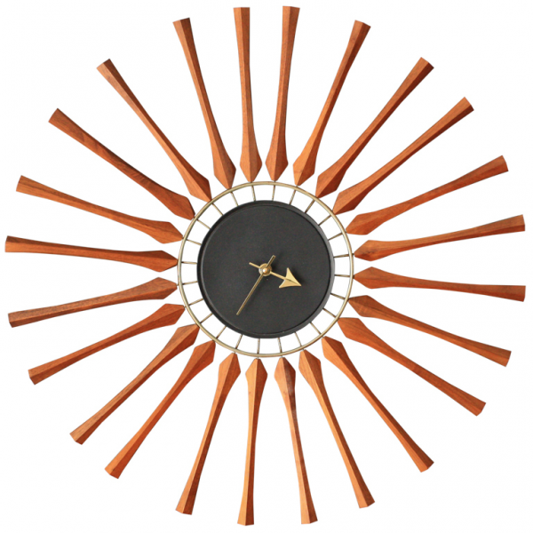 Mid-Century Modern Seth Thomas Star Burst Clock at 1stdibs