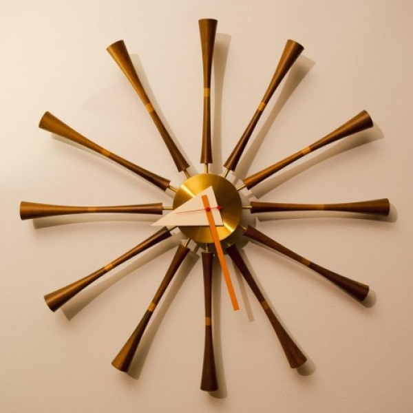 Mid Century Modern starburst clock | Tick Tock - Now THAT'S a Clock ...