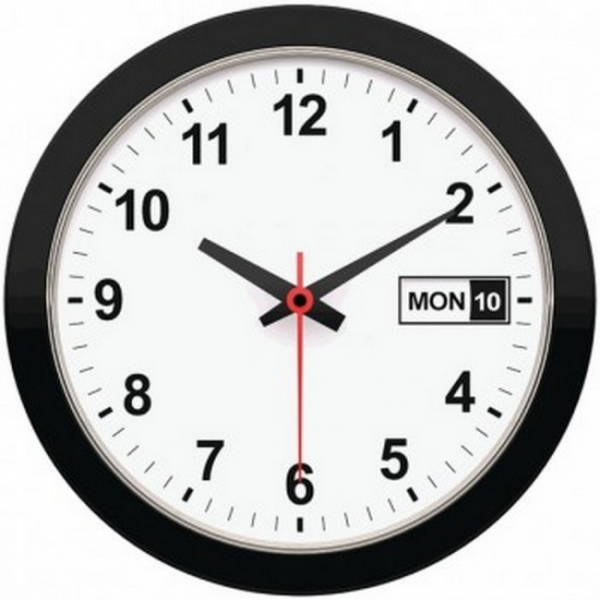 TIMEKEEPER 5013 12 Day & Date Wall Clock
