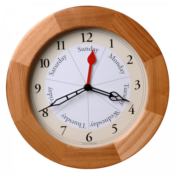 Oak Day 11.87 in. Wall Clock - Wall Clocks at Hayneedle