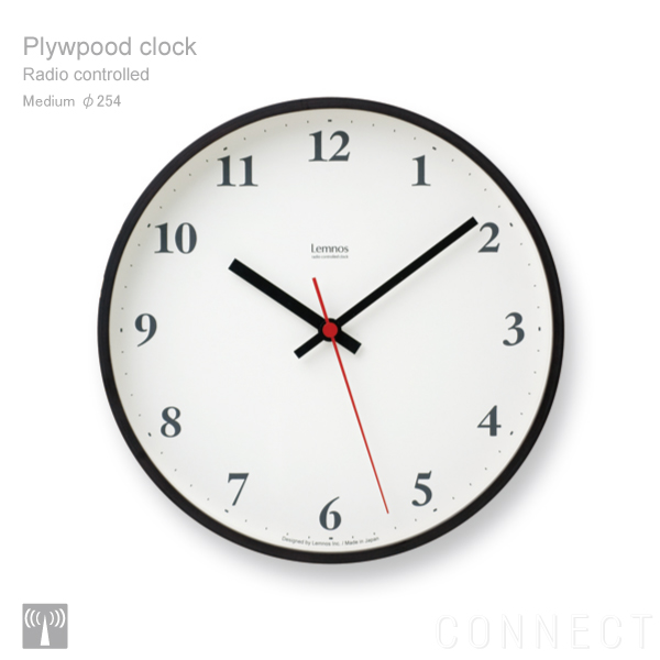 LEMNOS (Lemnos) / clock the Plywood (plywood clock) radio watch brown ...
