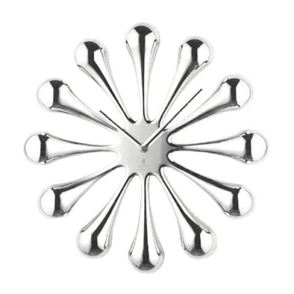 Cupecoy Design 33066 Splash Wall Clock Bulbed Spurs Modern Design ...