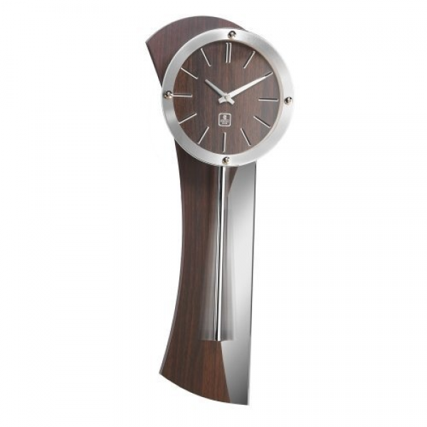CUPECOY DESIGN Wooden Pendulum Wall Clock with Mirror by CUPECOY ...